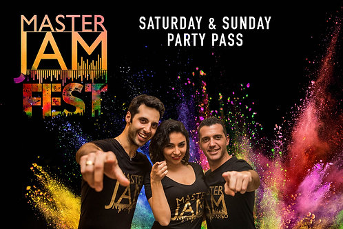Party Pass (Includes Shows and Saturday Silent Disco) Saturday & Sunday