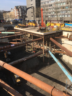 Temporary foundation works