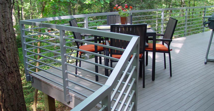 Galvinised custom deck handrail