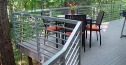 Galvinised custom deck handrail