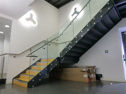 Interior glass staircase london