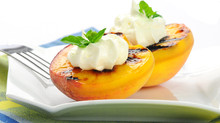 Grilled Peaches with Honey Ricotta