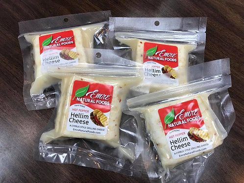 Hot Pepper Hellim Grilling Cheese  5-10lb Box (10-20 Units)