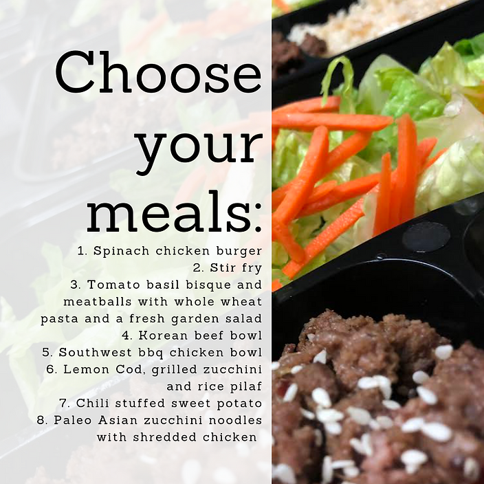 Individual Meals | Only $12 per meal