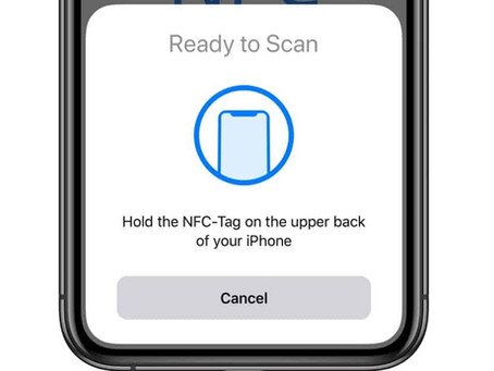 User Experience : Using NFC Tags to register a request