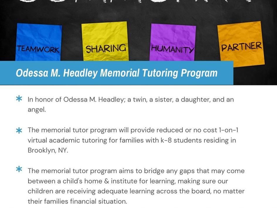 OMHM Tutoring Program Information