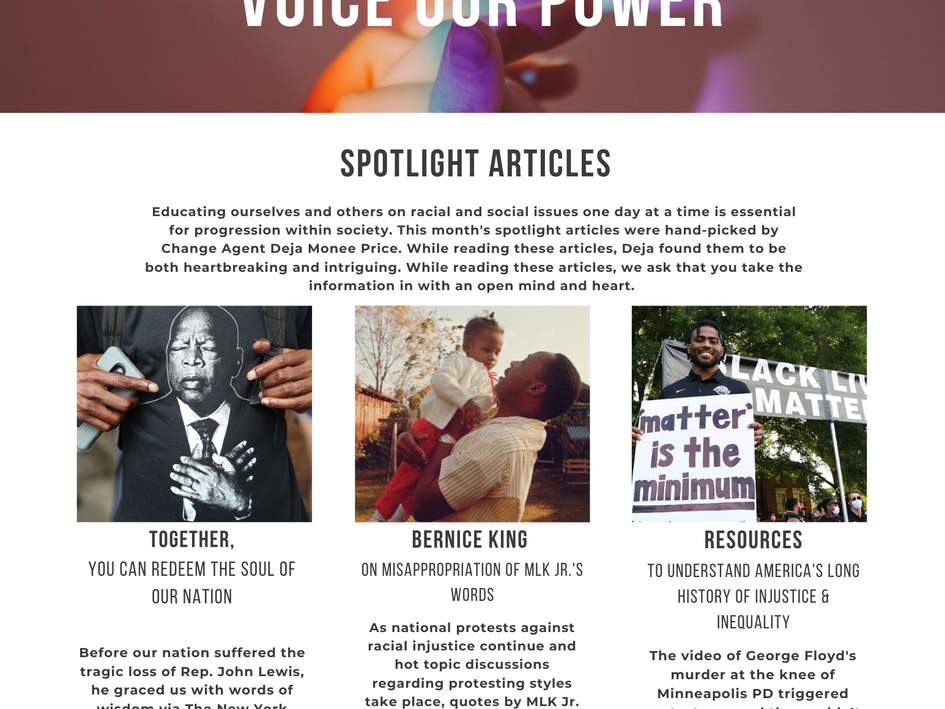 Voice Our Power Newsletter