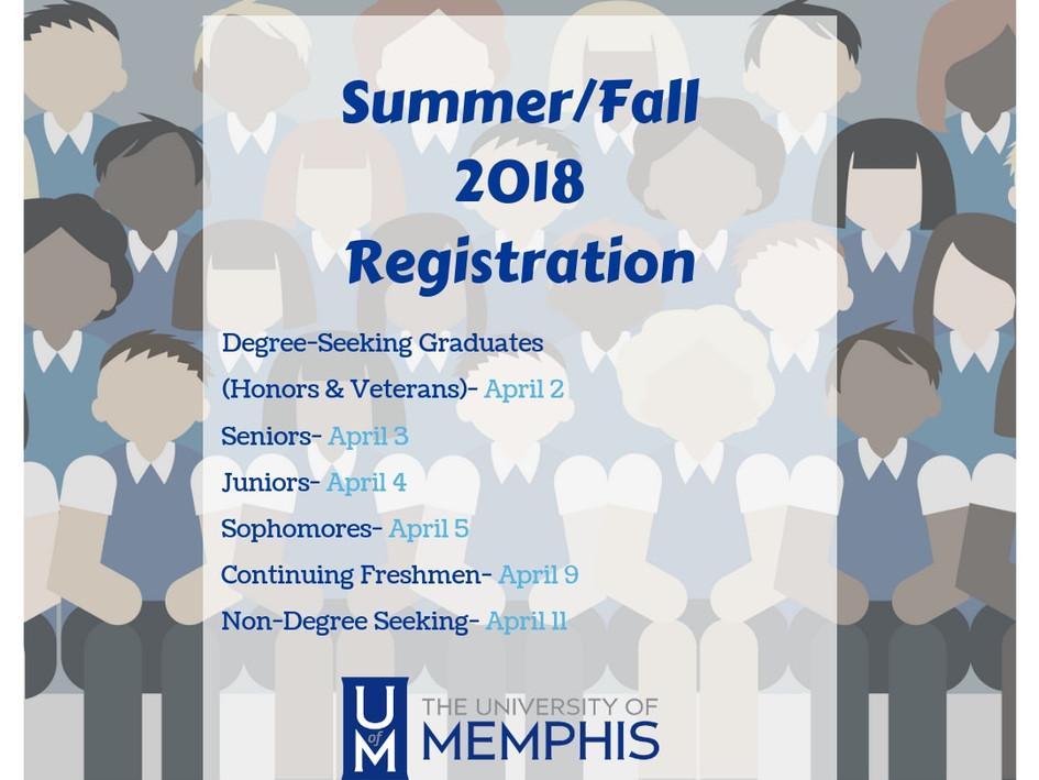 University of Memphis Enrollment Services Graphic