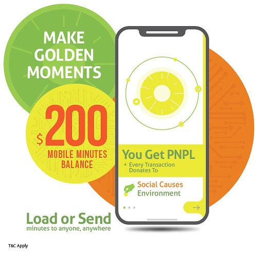 $200 prepaid minutes + PNPL points