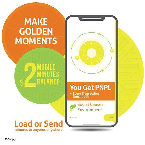 $2 prepaid minutes + PNPL points