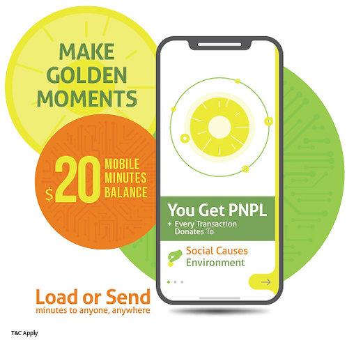 $20 prepaid minutes + PNPL points