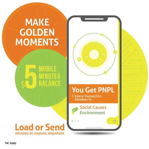 $5 prepaid minutes + PNPL points
