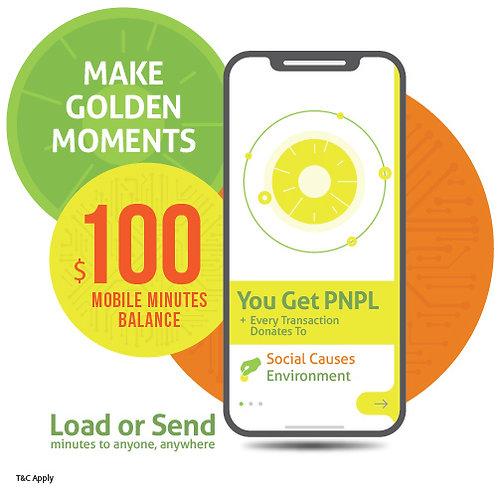 $100 prepaid minutes + PNPL points
