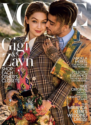 Gigi & Zayn test the Gender Fluid waters & cover the August 2017 Issue of VOGUE