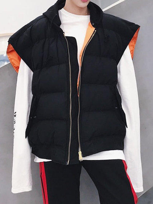 Padded Hooded Zip-Up Vest by BJORN