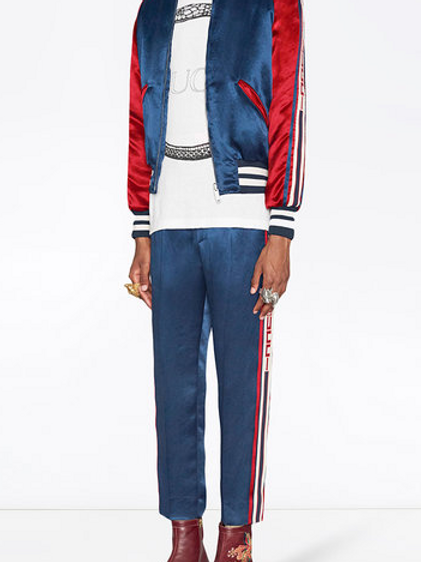 Acetate Jogging Striped Pants by GUCCI
