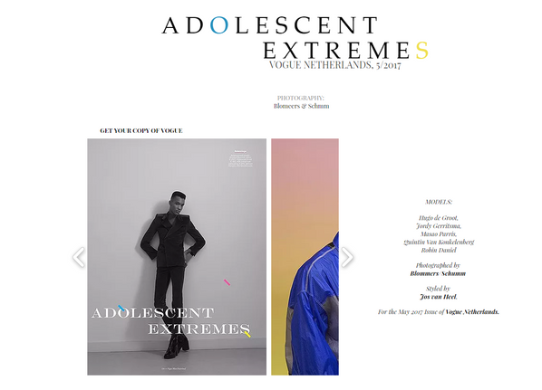 "Top Models go to ""Adoloscent Extremes"" for VOGUE Netherlands!"