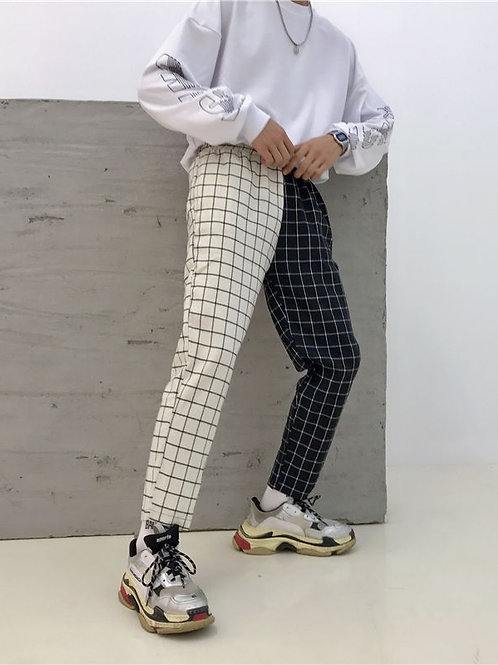 Porstina Plaid Cropped Pants