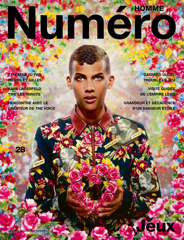 STROMAE on the cover of NUMERO HOMME