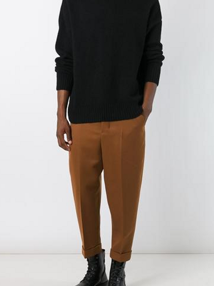 Oversized Carrot Fit Trousers by AMI ALEXANDRE MATTIUSSI