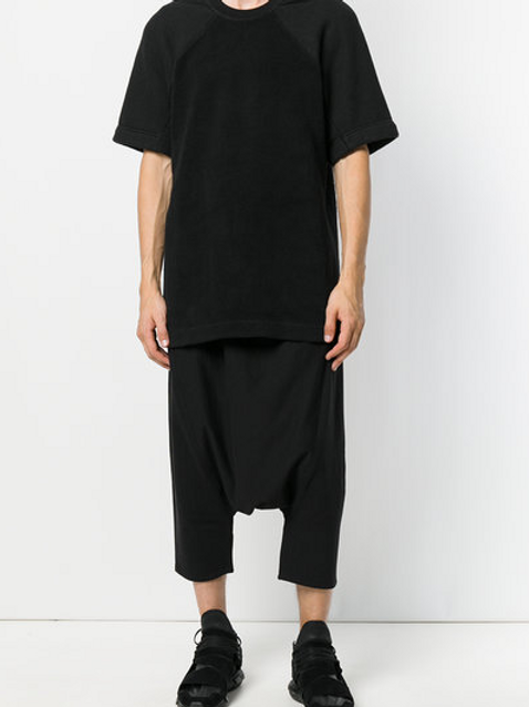 Drawstring Drop-crotch Pants by ALCHEMY