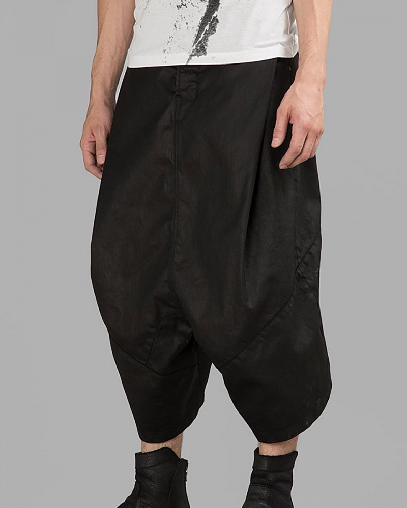 Boy Meets Style | Coated Cotton Sarouel Shorts by Ma Julius from ShopUntitled.com $672