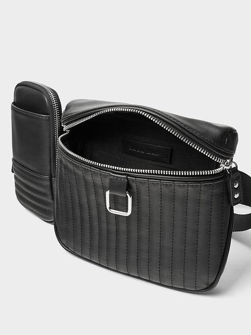 ZARA Black DBL Belted Bag