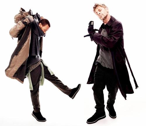 Baryshnikov & Li'l Buck make an unlikely couple for Rag & Bone!