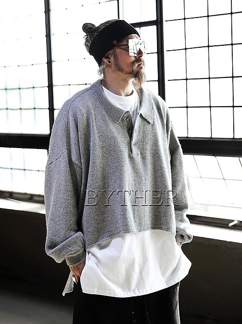 BYTHER Oversized Knitted Cropp Sweater