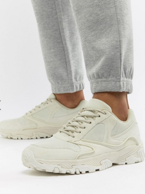ASOS DESIGN Tonal Off-White Sneakers