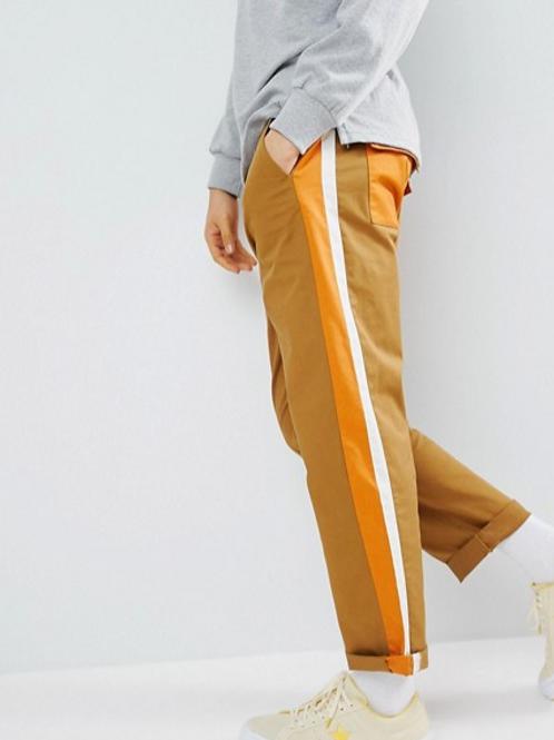 ASOS DESIGN Skater Double Side Stripe  Cropped Pants