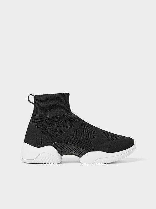 ZARA Men's Black High Top Sneaker