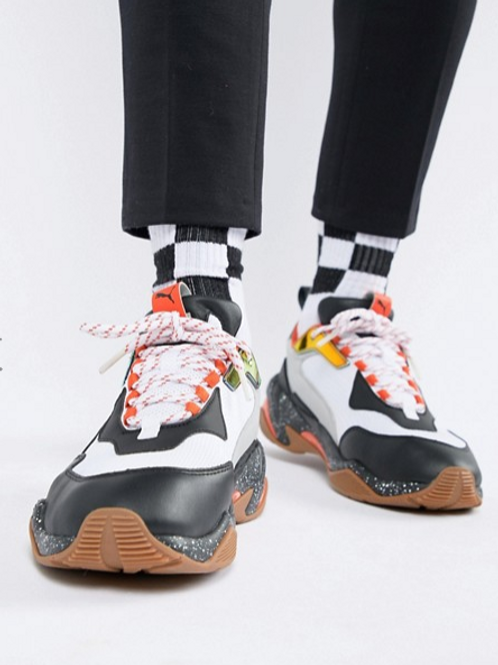 ASOS Puma Thunder Electric Sneakers In White