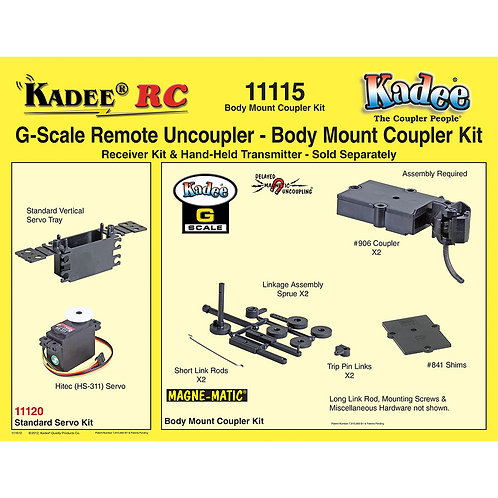 #11115 Kadee-RC G Scale Remote Coupler - Body Mount Coupler Kit