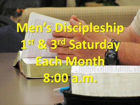 NEW: Men's Discipleship