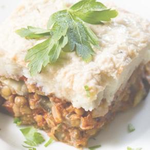 Vegan Moussaka with Lentils
