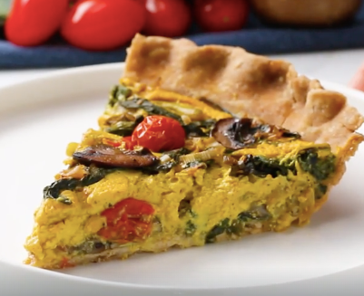 Vegetable Vegan Quiche
