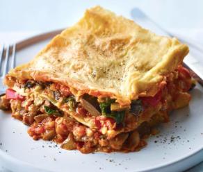Vegan veggie lasagne