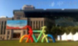 자전거축제 자전거조형물 공기조형물 에어바이블
