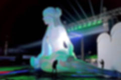 이성웅 홀로그램워터쇼 여신상 공기조형물 에어바이블