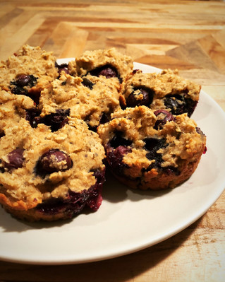 Creamy Coconut Blueberry Muffins