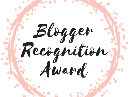 Blogger Recognition Award 🏆