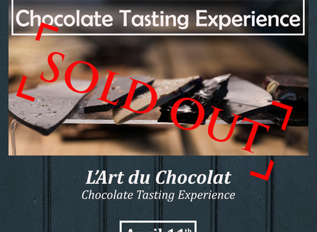 EVENT: Chocolate Tasting Experience (SOLD OUT)