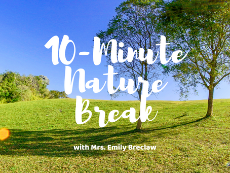 Wednesday, March 25 - Nature Break