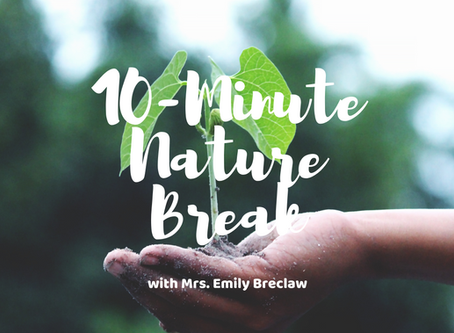 Wednesday, April 22 - Nature Break