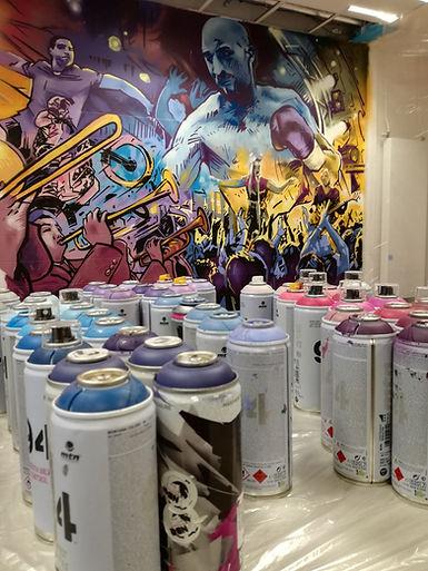Glaz Arena - Fresque graffiti Cesson Sévigné