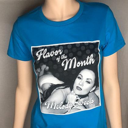 Flavor of the Month T-shirt (Blue - Women's)