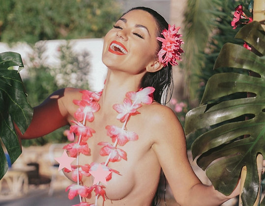 Lei'd - Color 8x10 Signed Print - UNCENSORED