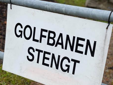 Stenging av golfbanen