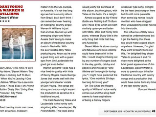 UK Country Music People reviews Desert Water!